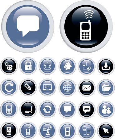 satellite transmitter: business technology icons