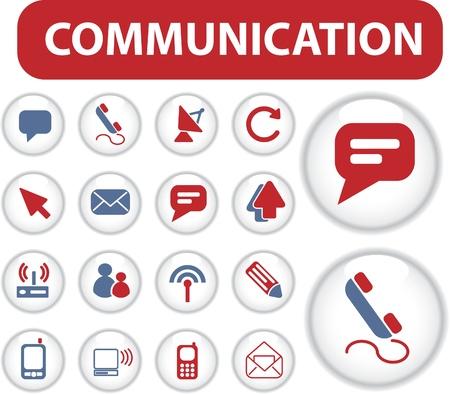 blog communication buttons Imagens - 8953171