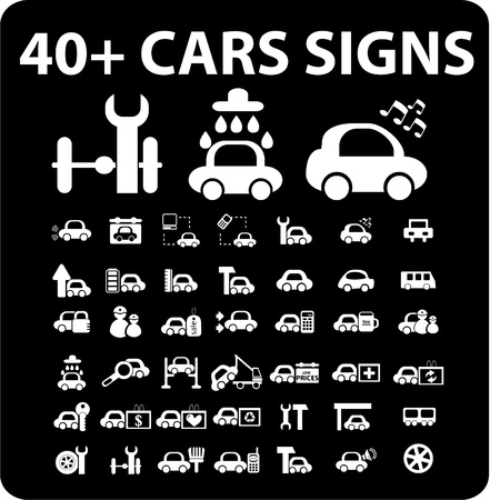rev counter: 40  cars signs