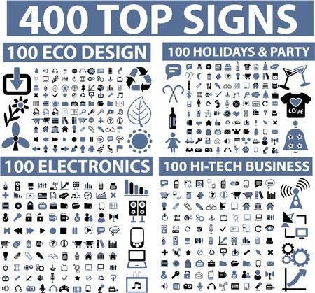 iconos de música: 400 signos superiores Vectores
