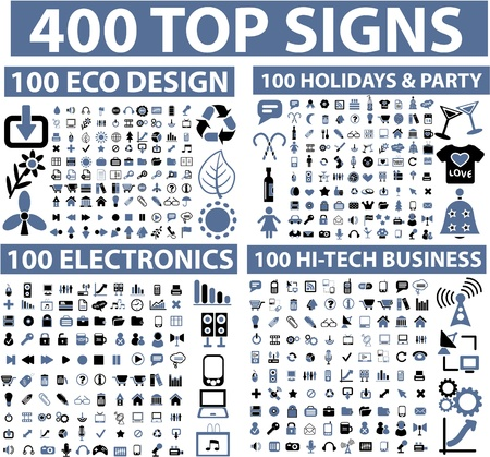 400 top signs Illustration