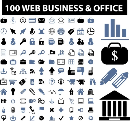 100 web, business signs