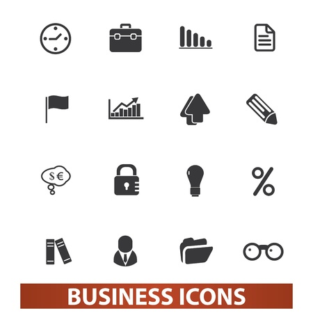 business presentation icons set, vector Vector