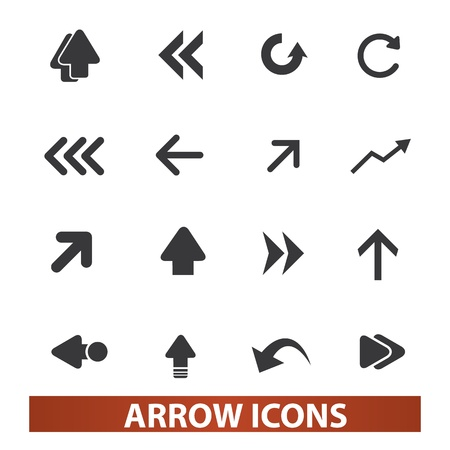 directional arrow: arrow icons, signs set for web and mobile design Illustration