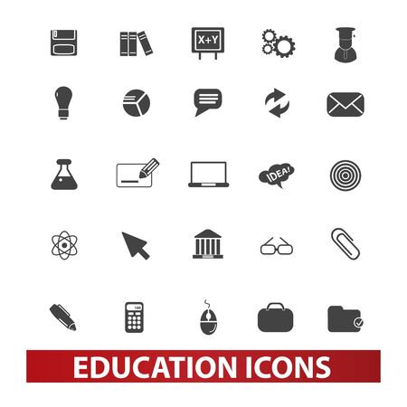 encyclopedias: education icons set