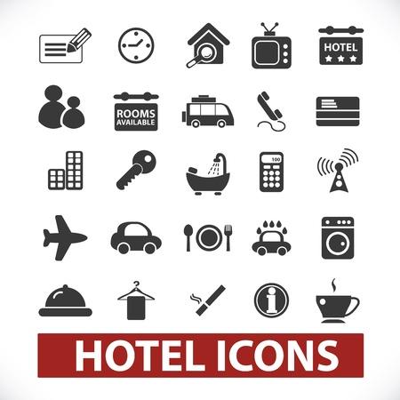 hotel icons set Stock Photo - 19089659