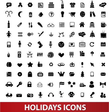 holidays icons set Stock Photo - 19089669