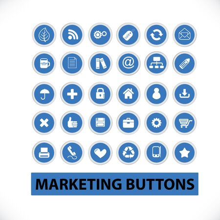 marketing buttons  Stock Vector - 19089594