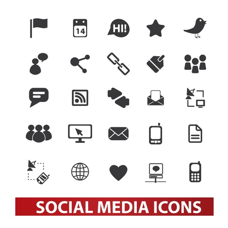 social media icons set Stock Vector - 19089521