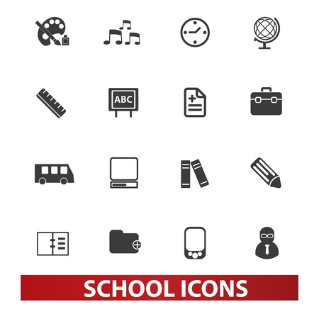 school icons: school icons set Illustration