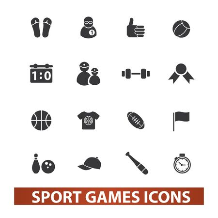 sport games icons set