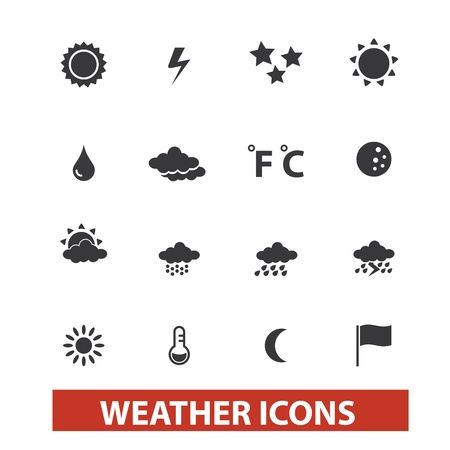 sun and moon: weather icons set
