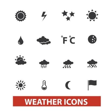 forecast: weather icons set