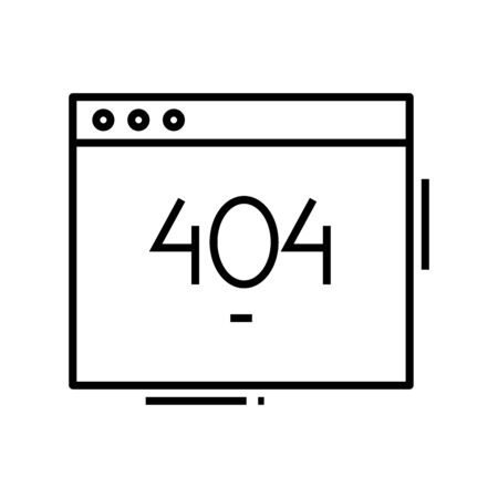 404 page line icon. 404 page concept outline vector illustration, sign, linear symbol.