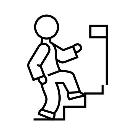 Achievement line icon. Achievement concept outline vector illustration, sign, linear symbol.