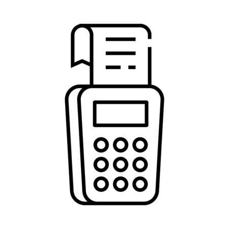 Accounting line icon. Accounting concept outline vector, symbol, sign, linear illustration.