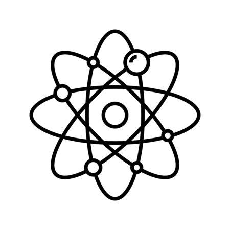 Atom model line icon, concept sign, outline vector illustration, linear symbol.