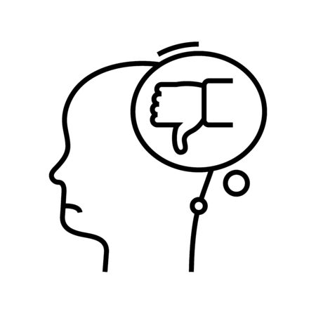 Bad idea line icon, concept sign, outline vector illustration, linear symbol. 일러스트