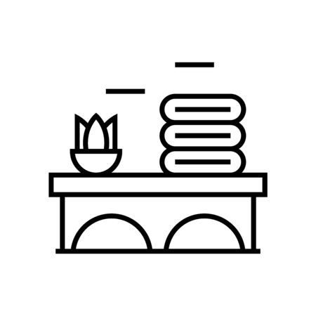 Aromatheraphy line icon, concept sign, outline vector illustration, linear symbol.