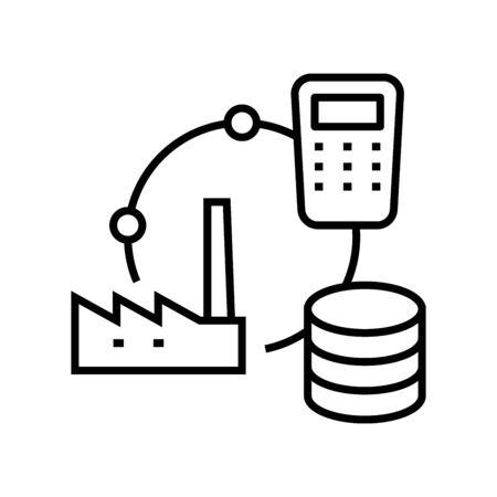 Asset allocation line icon, concept sign, outline vector illustration, linear symbol.
