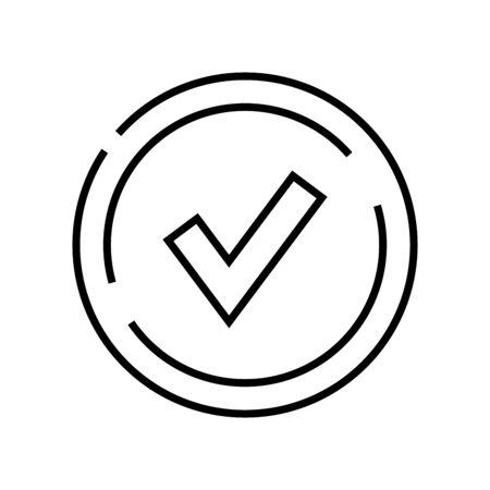 Accept line icon, concept sign, outline vector illustration, linear symbol.
