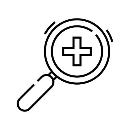 Add something line icon, concept illustration, outline symbol, vector sign, linear symbol. Ilustração