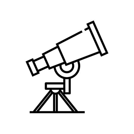 Astronomy lesson line icon, concept illustration, outline symbol, vector sign, linear symbol.