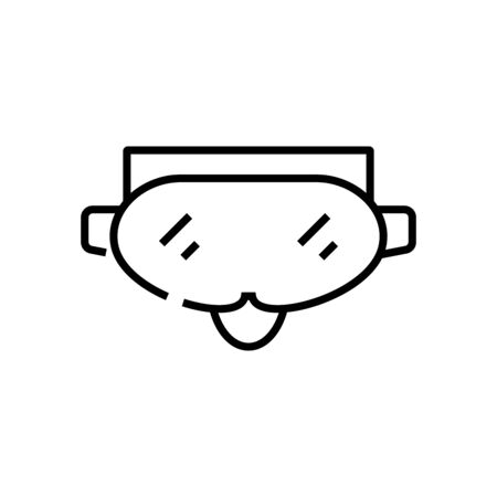 Alpine mask line icon, concept illustration, outline symbol, vector sign, linear symbol.