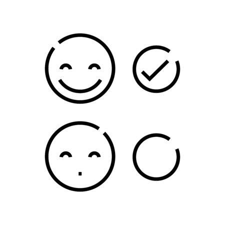 Affective evaluation line icon, concept sign, outline vector illustration, linear symbol.