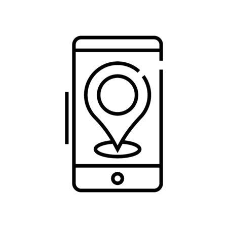 App guide line icon, concept sign, outline vector illustration, linear symbol.