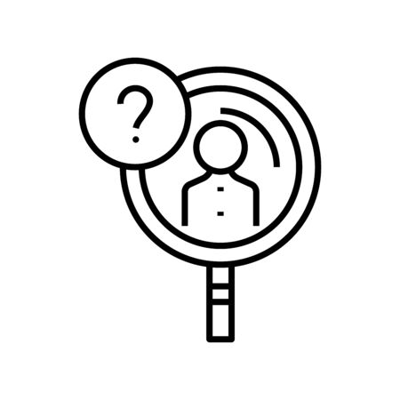 Big question line icon, concept illustration, outline symbol, vector sign, linear symbol. Ilustrace