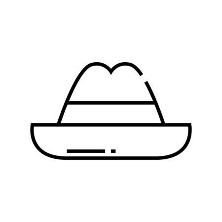 Hat line icon, concept sign, outline vector illustration, linear symbol. Illustration
