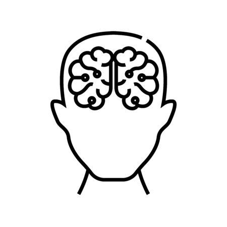 Human potential line icon, concept illustration, outline symbol, vector sign, linear symbol.