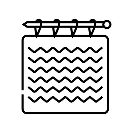 Hadmade work line icon, concept sign, outline vector illustration, linear symbol.
