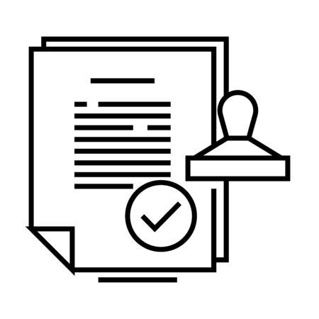 Important report line icon, concept illustration, outline symbol, vector sign, linear symbol.
