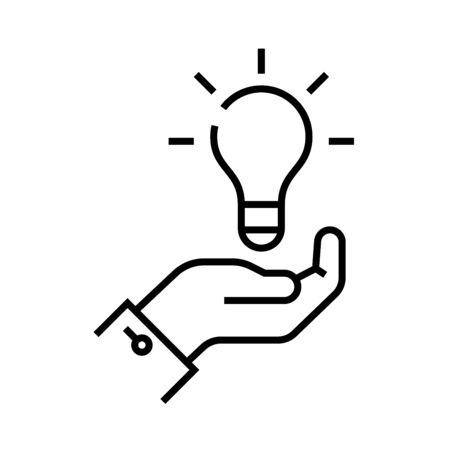 Idea shaping line icon, concept illustration, outline symbol, vector sign, linear symbol.