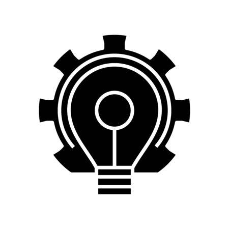 Bright decition black icon, concept illustration, vector flat symbol, glyph sign.