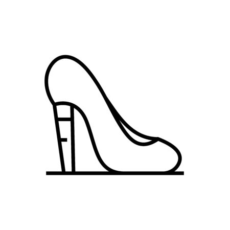 High heels line icon, concept sign, outline vector illustration, linear symbol.