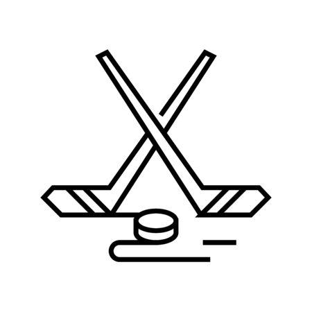 Golf game line icon, concept illustration, outline symbol, vector sign, linear symbol.