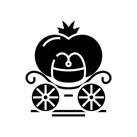 Diligance black icon, concept illustration, vector flat symbol, glyph sign. Vettoriali