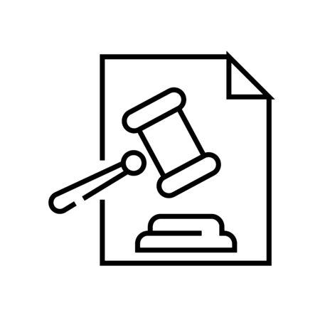 Judge conclusion line icon, concept sign, outline vector illustration, linear symbol. 向量圖像