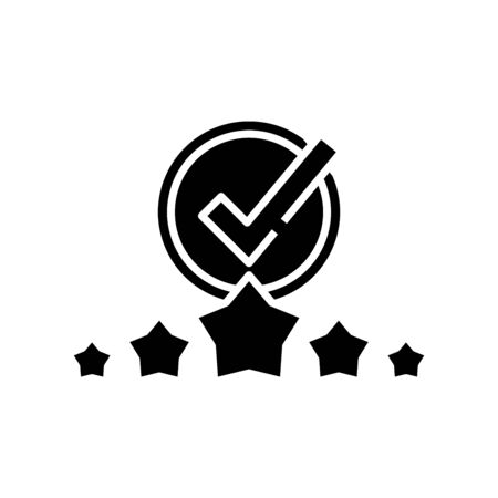 Excellent work black icon, concept illustration, glyph symbol, vector flat sign. 向量圖像