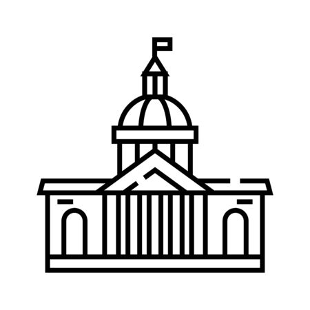 Parlament building line icon, concept sign, outline vector illustration, linear symbol.