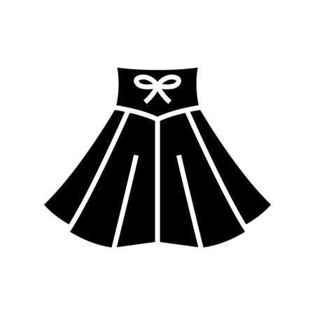 Dancing skirt black icon, concept illustration, vector flat symbol, glyph sign. Vettoriali