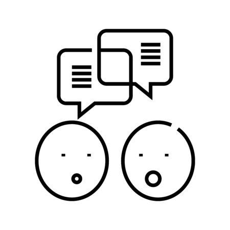 Negotiation line icon, concept sign, outline vector illustration, linear symbol.