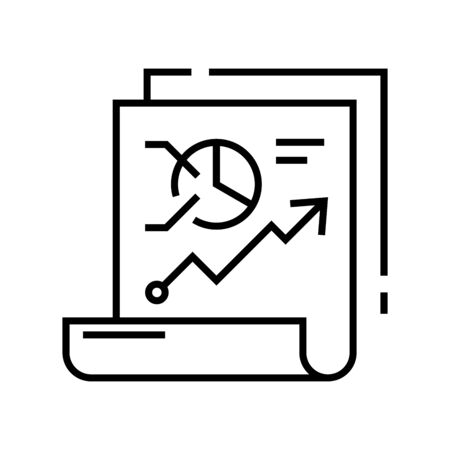 Report prospects line icon, concept sign, outline vector illustration, linear symbol.