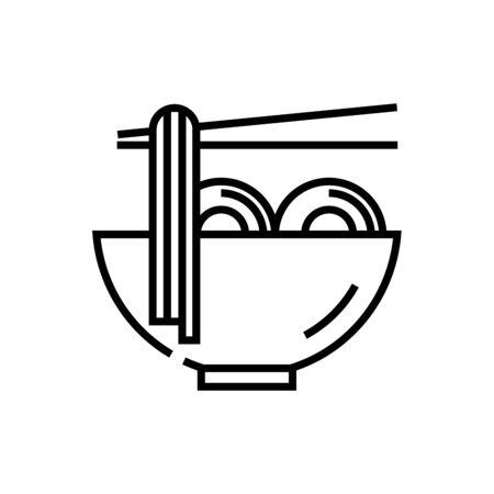 Pasta line icon, concept sign, outline vector illustration, linear symbol.
