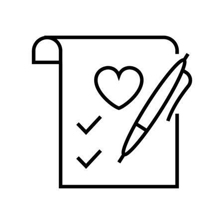 Profile of preferences line icon, concept sign, outline vector illustration, linear symbol.
