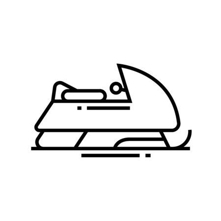 Sledge line icon, concept illustration, outline symbol, vector sign, linear symbol. Stock Illustratie