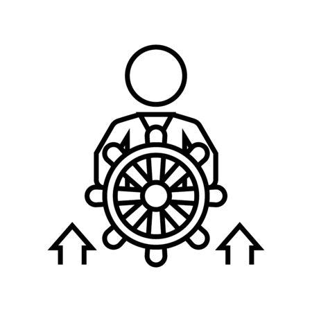 Rule line icon, concept sign, outline vector illustration, linear symbol. Vektorgrafik
